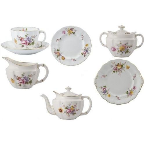 Royal crown derby posie serwis do herbaty dla 6