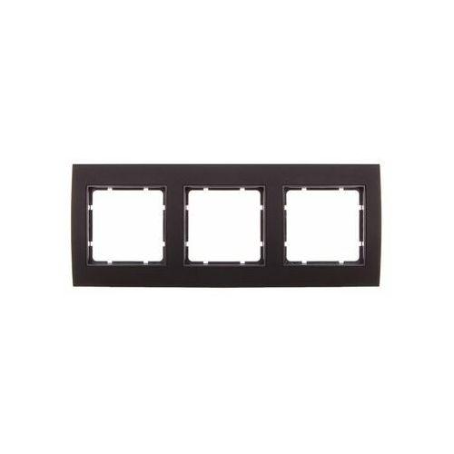 BERKER B.3 Ramka 3-krotna, alu, czarny/antracyt 10133005, kolor srebrny