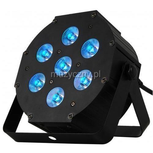 MLight Flat7 LED PAR 3-in-1 RGB; 7x9W - reflektor LED płaski, obudowa metalowa, czarna