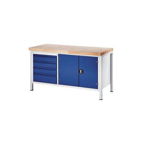 Stół warsztatowy, stabilny,4 szuflady w rozmiarze L, 1 szafka na narzędzia