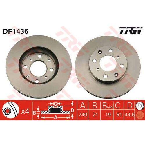TARCZA HAM TRW DF1436 HONDA CIVIC IV 1.3 16V, 1.5I 16V 91-95, CIVIC V 1.4I, 1.5 95-01