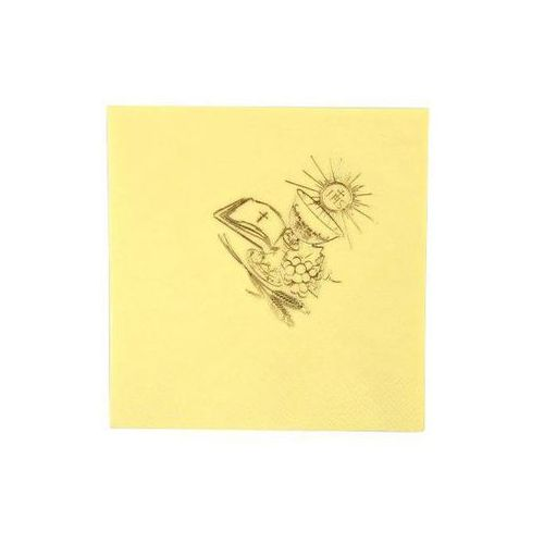 Gaj Serwetki komunijne kielich kremowe - 33 cm - 20 szt (5907509902529)