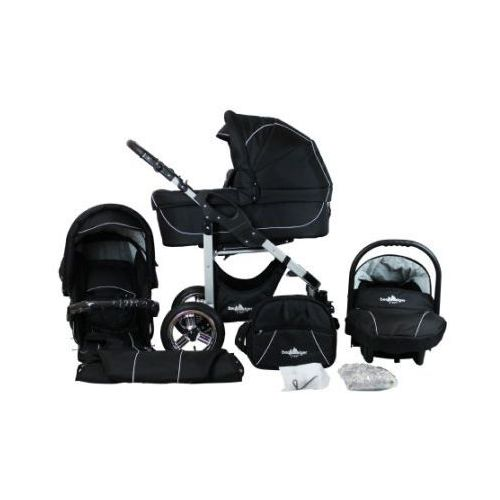 wózek spacerowy capri - zestaw black edition marki Bergsteiger