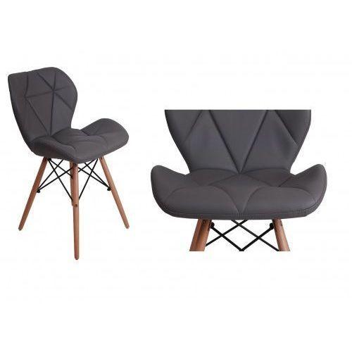 Krzesło tapicerowane MURET - szary, kolor szary