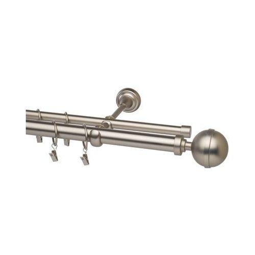 Stol-kar Karnisz kula elegant 240 cm podwójny satyna 25/16 mm metalowy (5902633072728)
