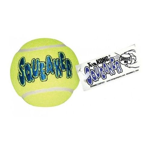 piłka tenisowa squeaker z piszczałką rozmiar l 2 szt. marki Kong