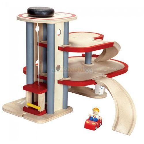 Drewniany piętrowy parking - garaż, Plan Toys PLTO-6611