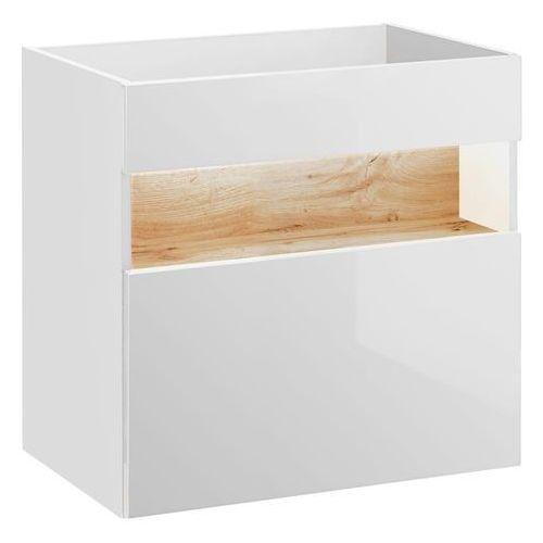 Szafka pod umywalkę 60 cm BAHAMA WHITE 820, kolor biały