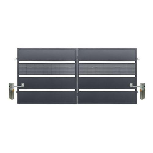 Brama dwuskrzydłowa Polbram Steel Group Tebe z automatem 3 5 x 1 58 m ocynk antracyt (5901122311133)