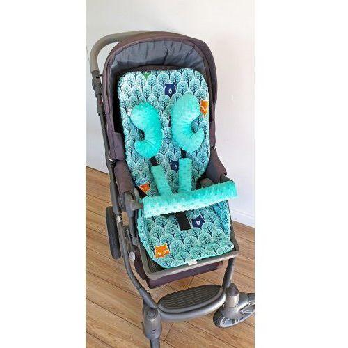 Wkładka do wózka, ochraniacze na pasy i pałąk + motylek las marki Bubaland