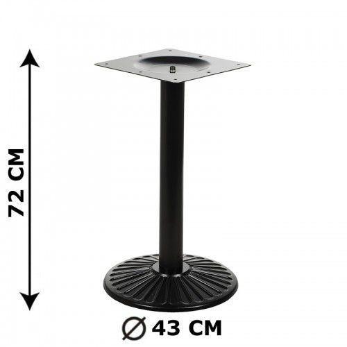 Podstawa stolika e68/72, żeliwna, śr. podstawy 43 cm (stelaż stolika) marki Stema - od