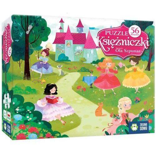 Zielona sowa Puzzle 56 elementów - księżniczki