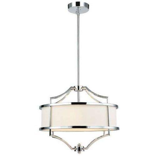 Orlicki design Lampa okrągła stesso cromo s abażurowa oprawa wisząca w stylu klasycznym kremowa chrom (1000000593372)