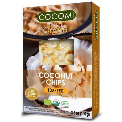 Żż chipsy kokosowe prażone bio 100 g - cocomi marki Cocomi (wody kokosowe, oleje kokosowe, śmietanki)