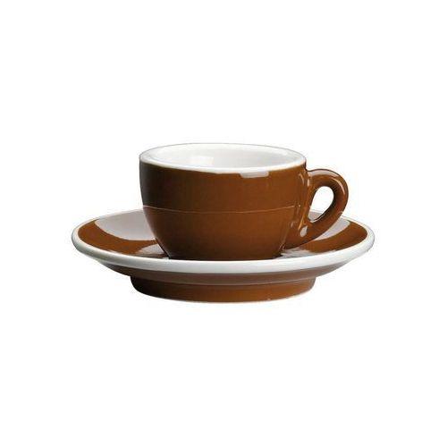 Filiżanka do espresso, ze spodkiem, 0,05 l, brąz marki Cilio