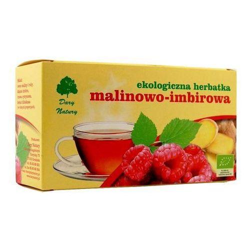 Dary natury - herbatki bio Herbatka malinowo - imbirowa bio (20 x 3 g) herbata dary natury