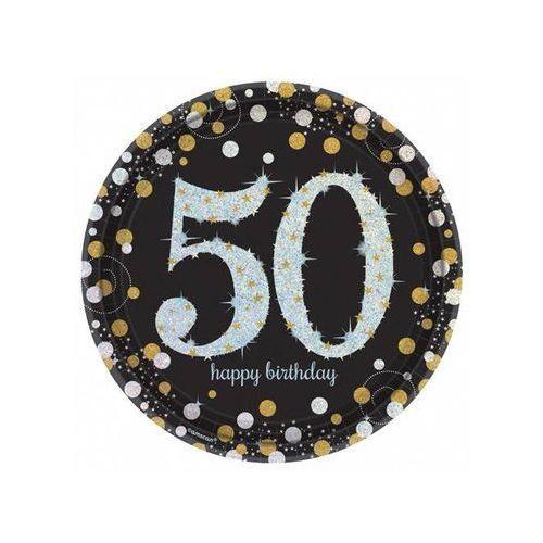 Talerzyki na pięćdziesiąte urodziny - 23 cm - 8 szt.