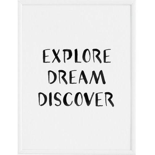 Plakat explore dream discover 30 x 40 cm marki Follygraph