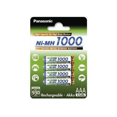 Panasonic akumulatory ni-mh 930 mah 4xaaa high capacity