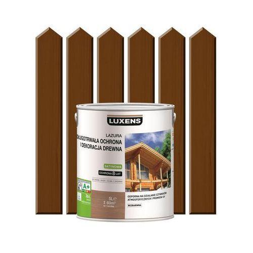 Lazura do drewna długotrwała ochrona i dekoracja drewna 5 lorzech ciemny marki Luxens
