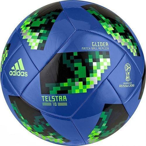 Piłka nożna russia 2018 telstar glider ce8100 niebiesko-czarna marki Adidas
