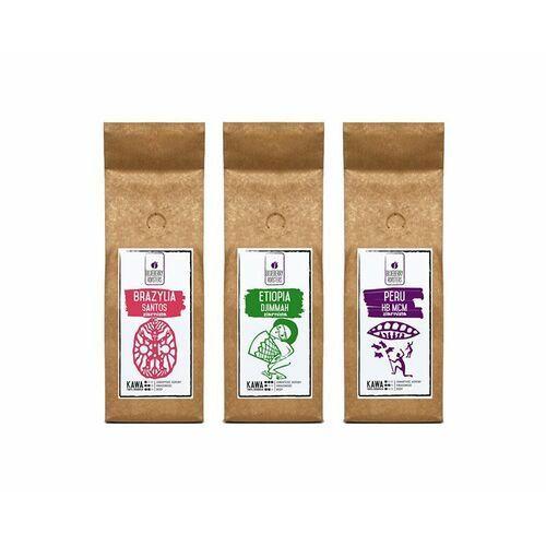 Zestaw kaw mielonych - brazylia etiopia peru 3x250g marki Blueberry roasters