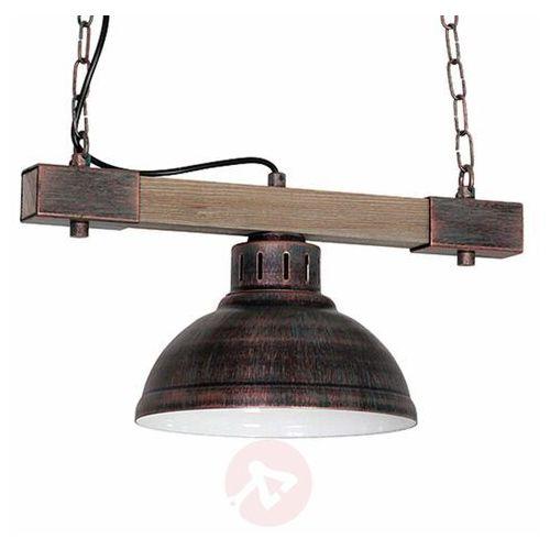 Luminex Lampa wisząca hakon 1xe27/60w/230v patyna