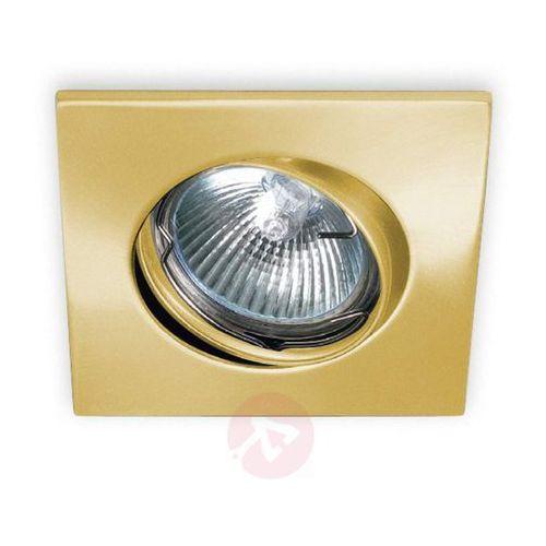 Pamalux Nowoczesna oprawa downlight karu złota szczotk.