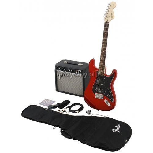 squier affinity stratocaster hss car gitara elektryczna, zestaw (wzmacniacz 15w, pokrowiec, akcesoria) marki Fender
