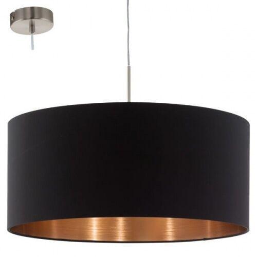 Lampa wisząca Eglo Pasteri 94914 z abażurem 1x60W E27 fi53 czarny/miedź, 94914