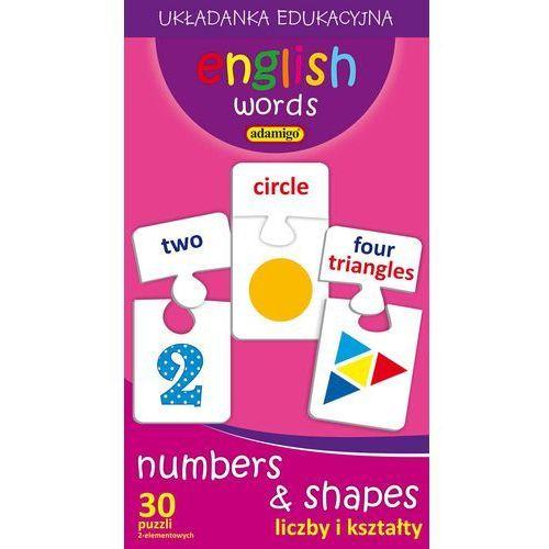Adamigo English words liczby i kształty