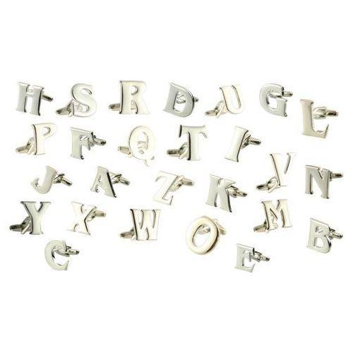 Galante Spinki do mankietów litery alfabetu