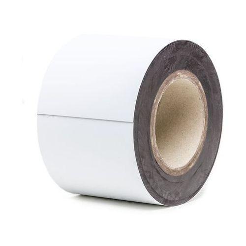 Haas Magnetyczna tablica magazynowa, białe, rolka, wys. 100 mm, dł. rolki 10 m. zapew