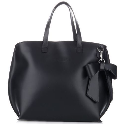 oryginalne torebki skórzane z kokardką czarne (kolory) marki Vittoria gotti