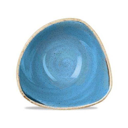 Salaterka trójkątna 260 ml, niebieska   , stonecast cornflower blue marki Churchill