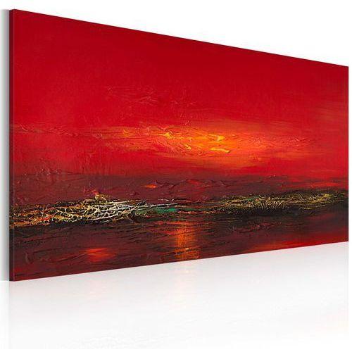 Obraz malowany - czerwony zachód słońca nad morzem marki Artgeist
