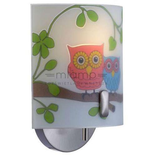 Kinkiet lampa ścienna ugglarp 104895 dziecięca oprawa szklana wzorki sowy multikolor marki Markslojd