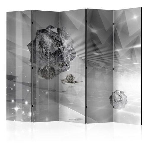Parawan 5-częściowy - abstrakcyjna szarość ii [room dividers]
