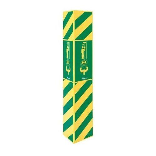 Znak informacyjny trójstronny - urządzenie awaryjne łączone marki Haws