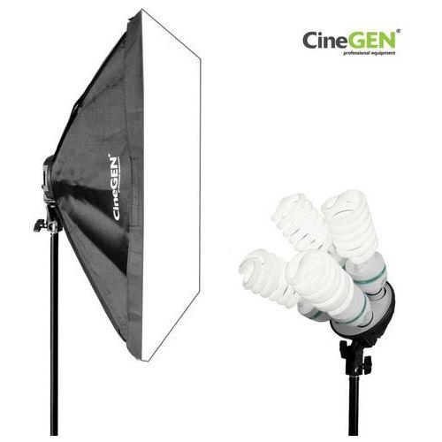 Lampa światła stałego softbox 60x90cm 4x 85w 230cm marki Cinegen
