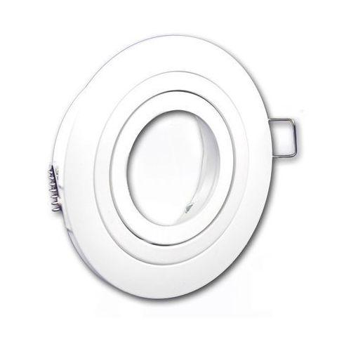Ledart Oprawa sufitowa aluminium okrągła ruchoma biała matowa