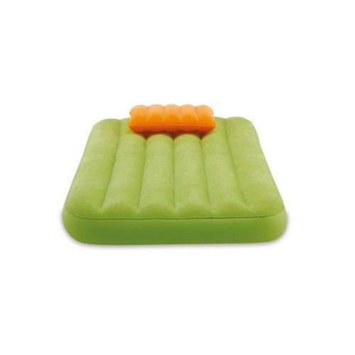 Intex Materacyk welurowy dla dziecka z poduszką zielony 90 x 160 x 20 cm 66801 (5902921963905)
