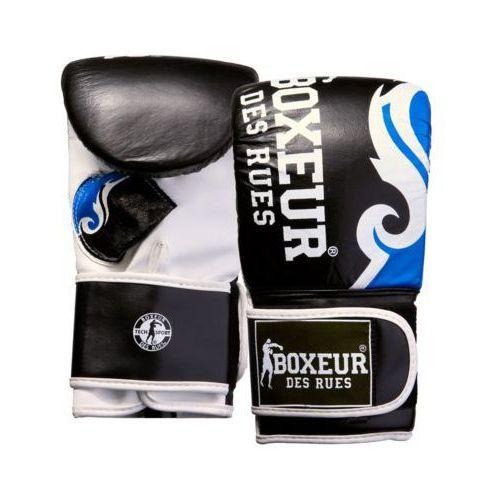 Boxeur Rękawice bokserskie bxt-5139 (rozmiar m) czarno-niebieski (8058660514087)