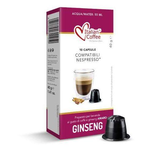 Ginseng amaro (kawa z żeń-szeniem) italian coffee kapsułki do nespresso – 10 kapsułek marki Nespresso kapsułki