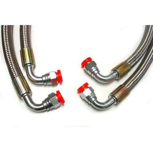 Przewód olejowy w oplocie Gates - 2 x końcówka 90°, kup u jednego z partnerów