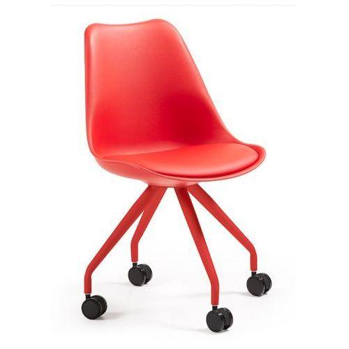 :: krzesło obrotowe lars czerwone - wzór 4 marki Laforma
