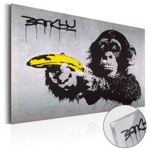 Obraz na szkle akrylowym - monkey with banana gun by banksy [glass] marki Artgeist