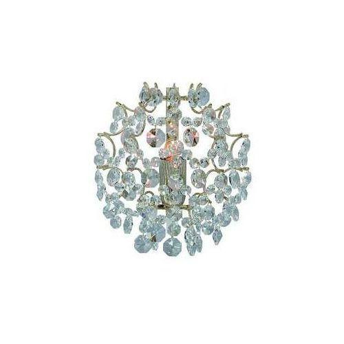 Kinkiet lampa ścienna Markslojd Rosendal 1x40W E14 złoty / przezroczysty 102334, 102334