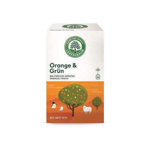 Herbata Zielona z Pomarańczą Ekspresowa BIO 20 x 1,5 g Lebensbaum, 4012346206400