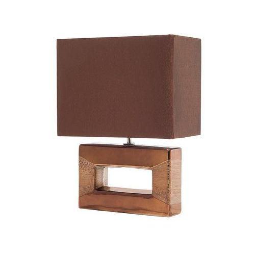 Beliani Nowoczesna lampka nocna - lampa stojąca w kolorze brązowym - onyx